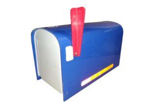 Rural Mailbox - Blue FREE SHIPPING