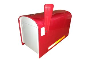 Rural Mailbox - Red FREE SHIPPING