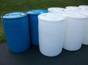 White Food Grade Barrels